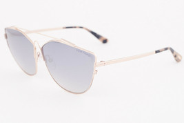 Tom Ford JACQUELYN Rose Gold / Smoke Mirror Sunglasses TF563 28C - $195.02