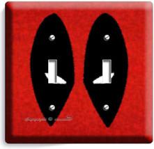 Deadpool Face Mask Comics Superhero 2 Gang Light Switch Wall Plate Room Hd Decor - $11.69