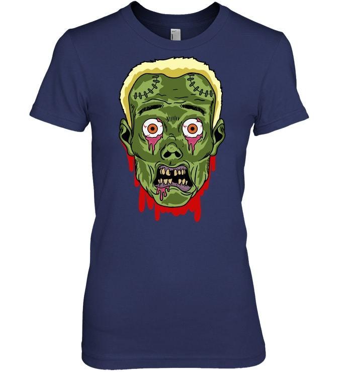 Frankenstein Face Zombie Head Halloween Costume Tshirt