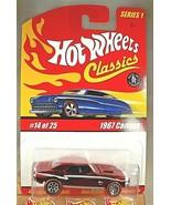 2004 Hot Wheels Classics Series 1 14/25 1967 CAMARO Lt Red Variant w/Red... - $16.00