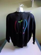 Limited Too Ski Sweatshirt Sz 16 Black Vintage 90s  - $38.49