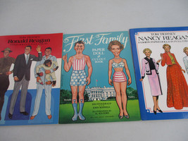 Ronald Reagan Paper Doll Lot Nancy American President Republican Vintage   - $25.01