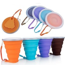 Travel Cup 250ML Silicone Telescopic Retractable Folding Collapsible 4 C... - $5.49