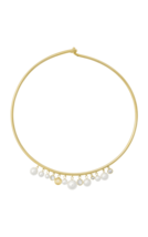 NWT Michael Kors Simulated Pearl Collar Gold tone Necklace Choker Orig. $145 - $86.99
