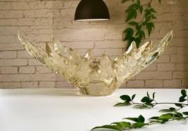 """Lalique Champs Elysées Gold Lustre 18"""" Centerpiece Bowl Xlnt Condition Reg $3950 - $2,473.02"""