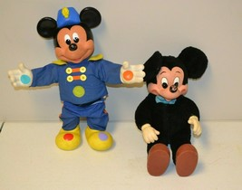"""VTG Disney Mickey Mouse Band Leader Squeeze Doll & Applause Plush 14""""-15... - $14.84"""