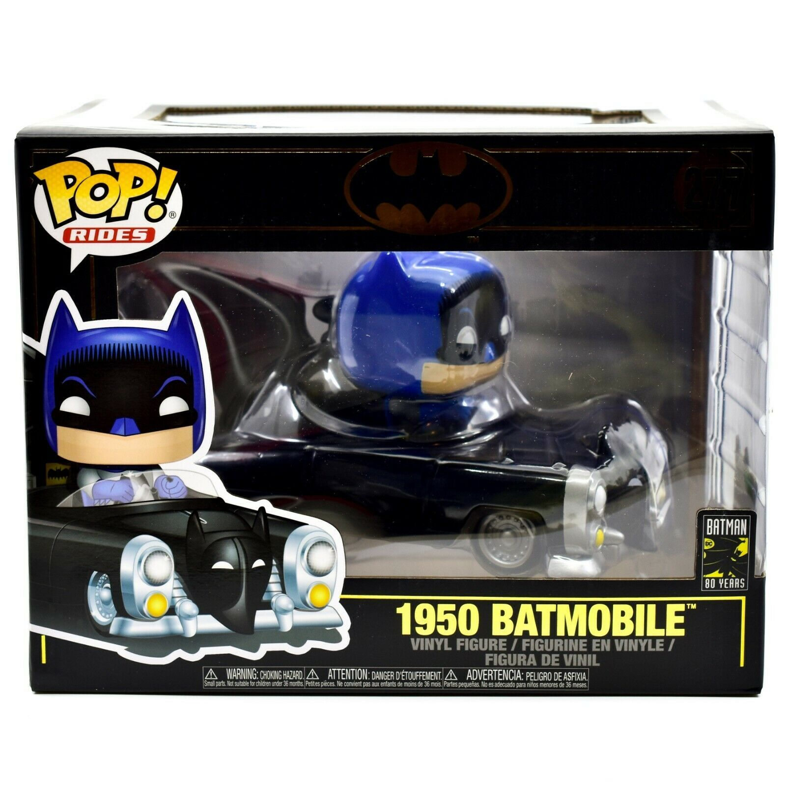 Funko Pop! DC Super Heroes Batman 1950 Batmobile 80 Years Anniversary Figure 277