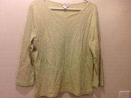 Ladies Lime Green V-Neck Sweater Sz L