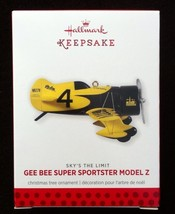 Hallmark 2013 Gee Bee super Sportster Model Z Sky's the Limit - MIB - $19.95