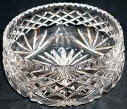 Cut Crystal Bowl for Centerpiece or Fruit etc. Nice Pattern - $46.85