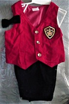 Vintage Red Vest Black Pants Bowtie Suit 18 months Boys Unbranded  - $15.95