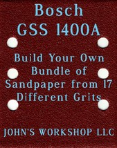 Build Your Own Bundle Bosch GSS 1400A 1/4 Sheet No-Slip Sandpaper 17 Grits - $0.99