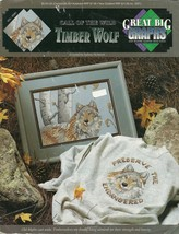Timber Wolf Call of the Wild Cross Stitch Pattern Booklet VCL-20061 - $4.99