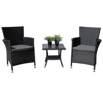 Outdoor Bistro Dining Patio Furniture 3 Piece Garden Conversation Set Cl... - €203,06 EUR