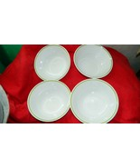 CORELLE CORNING WILDFLOWER CEREAL SOUP BOWLS x 4 NEW OLD STOCK FREE USA SHIP - $46.74