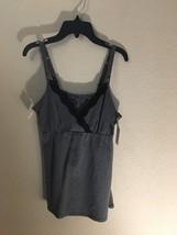 Gilligan & O'Malley Nursing Tank Camisole S M Gray Black NWT - $12.99