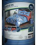 Your Zone Blue Sharks Bed in a Bag Kids Bedding Set FULL Comforter Sham ... - $33.90
