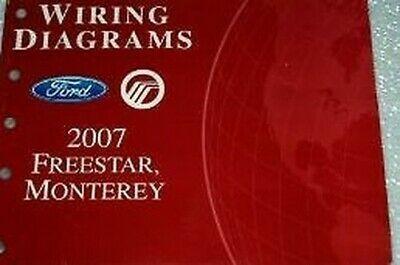 2007 Ford Freestar Elektrisch Wiring Service Shop Reparatur Manuell Ewd 07