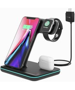Techno S Fast 3 in 1 Wireless  Dock Charging Station for Apple,Samsung +... - $49.01