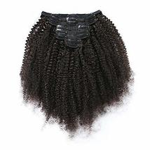 Afro Kinky Curly Clip In Human Hair Extension Small Curly Mongolian Hair... - $62.37