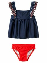 Cat & Jack™ Girl's Two Pieces Swimsuit - Navy & Red - 12M - $13.71