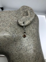 Vintage Orange Garnet Earrings 925 Sterling Silver Dangle Lever backs - $67.32