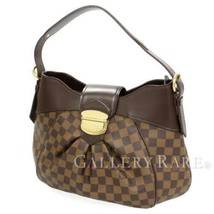 LOUIS VUITTON Sistina MM Damier Canvas Shoulder Bag N41541 Authentic 541... - $1,082.19
