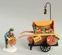 Dept. 56 Heritage Village Chelsea Market Fruit Monger and Cart #58130 Br... - $12.20