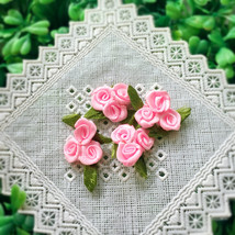 20 Light Pink Triple Roses,Pink Roses Bouquet,Satin Roses,Sewing,Decor,A... - $7.95