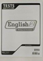BJU Press English 2 Tests 2nd Edition (Writing & Grammer) *Please read  - $8.90