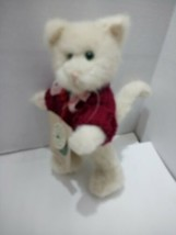 "1995 Boyds Bears The archive collection 8"" cat in red sweater Chaucer - $16.15"