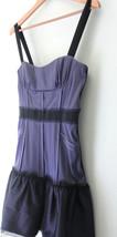 NEW! BCBG Max Azria Sexy Dewberry Purple Ruffled Corset MIA Satin Dress 10 $318 - $139.00