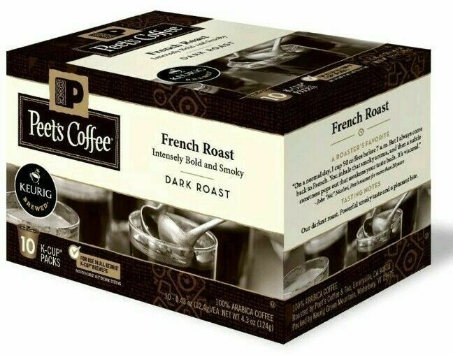 Peet's Coffee French Roast Dark roast coffee K-Cup Coffee Pods 60 Count