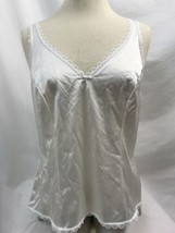Warner Perfecto Medida 55200 Blanco Lazo Camisola, Mujer Talla 36 - $9.98