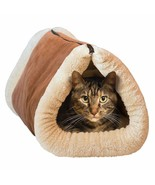Pet Cat Puppy 2 in 1 Warm Mat & Bed Large Pet Tunnel Zip Washable Self-h... - $33.37