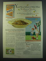1930 Wheaties Cereal Ad - You'd never believe it whole wheat so alluring  - $14.99