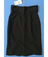 Bebe Striped Skirt Size 0 Black Straight Pencil Pinstripes Classy Career  - $24.74