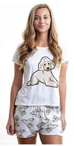 Dog Doodle Beige pajama set with shorts for women Poodle - $30.00