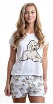 Dog Doodle Beige pajama set with shorts for women Poodle - $30.00
