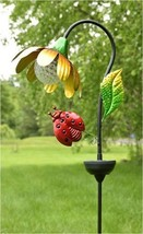 Zaer Ltd. Solar Flower Garden Stake with Rotating and Color Changing LED... - $69.99
