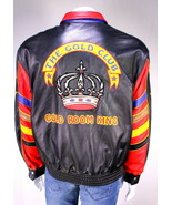 * THE GOLD CLUB * Atlanta 'Gold Room King' 90's Hip-Hop Leather Bomber J... - $665.00