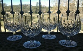 "4 Lot Waterford Crystal Lismore 12 oz Brandy Snifters 5 1/4"" Mint - $159.50"