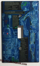 Star Wars R2D2 C-3PO Blueprint Light Switch Outlet wall Cover Plate Home Decor