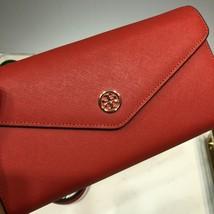 Tory Burch Robinson Expandabale Conceirge Wallet Bag Red - $320.00