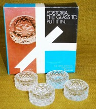 "FOSTORIA Salt Dips ""Heritage"" Clear Lead Crystal Glass - Box Set of 4 - $89.09"