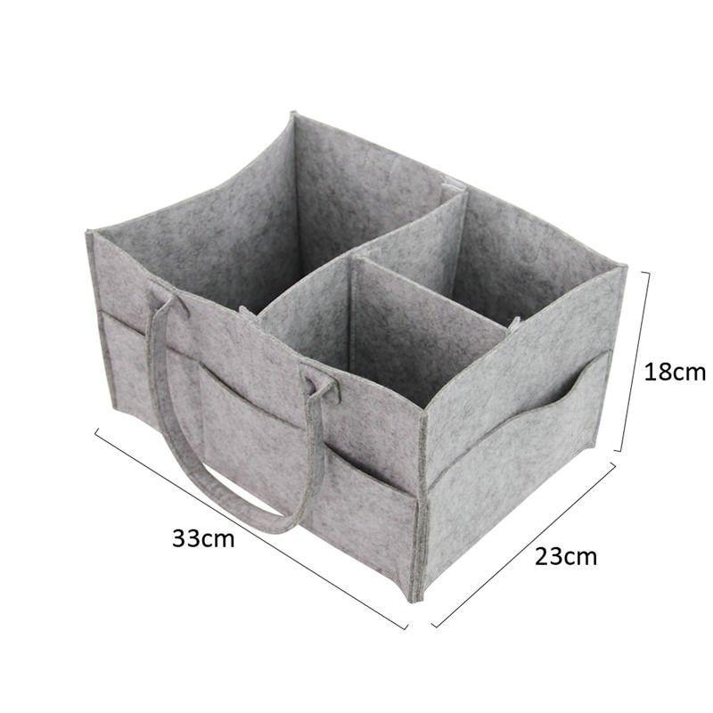 Storage Basket Baby Diaper Felt Organizer Bag Foldable Toys Cosmetic Holder