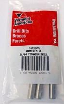 """Vermont American 12321 21/64"""" Titanium Drill Bits 3 Pack - $5.94"""