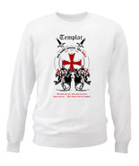 TEMPLAR-NON NOBIS DOMINE 01 - NEW WHITE COTTON SWEATSHIRT - $34.38