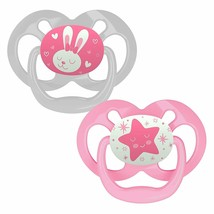 Dr. Brown's Advantage Glow-in-The-Dark 2 Piece Stage 2 Pacifiers Pink 6-12 Month - $8.59