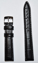 Original Tissot PR 100 LADY 16mm Black Leather Watch Band Strap For T101210 - $68.00
